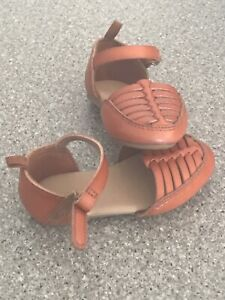 Old Navy Toddler Girls Faux Leather Huarache Sandals Brown Size 5