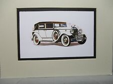 1931 Packard Model 833    Auto Museum Artist Full color Illustrated  Print