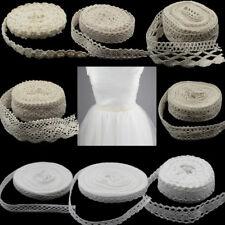 5m -10Yd Vintage Cotton Crochet Lace Trim Wedding Bridal Ribbon Sewing Craft New