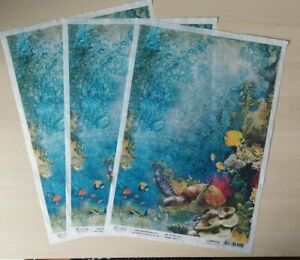 Ciao Bella Rice Papers x 3 - NEW - Turtle Cove - CBRP039