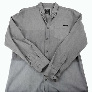 MOOKS CLOTHING CO. Three-Tone Grey Men's Long Sleeve Button-Down Collared Shirt