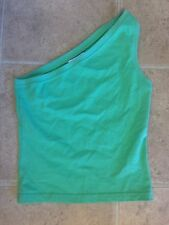Abercrombie And Fitch Juniors Size Medium Green One Sleeve Tank Top