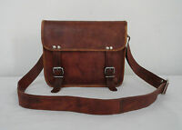"Vintage Leather Messenger Bag Satchel Tab/iPad Handbag CrossBody Sling Bags 11"""