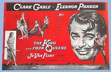 VTG - THE KING AND FOUR QUEENS - GABLE, PARKER - ORIGINAL UA PRESSBOOK - 1956
