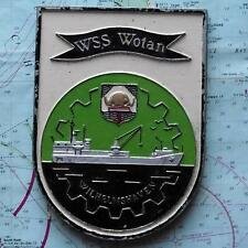 WSS Wotan Wilhelmshaven German Navy Ship Metal Tampion Plaque Crest