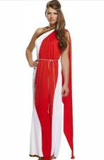 Ladies Long Roman Greek Costume 10-14 Toga Party  Fancy Dress
