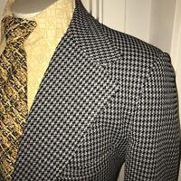 Vtg 60s 70s POLYESTER Leisure Suit Jacket Coat Disco Gray Blazer retro Mens 46