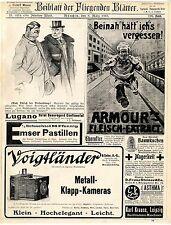 Voigtländer Metall- Klapp- Kameras Armour´s Fleisch Extract Histor. Annoncen1907