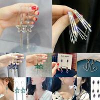 Fashion 925 Silver,Gold,Rose Gold Plated Hook Earrings Drop Dangle Women Jewelry