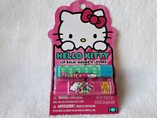 SANRIO HELLO KITTY Lip Balm Set Of 2~~~0.12 oz/3.5 g EACH~~~NEW~~~SEALED