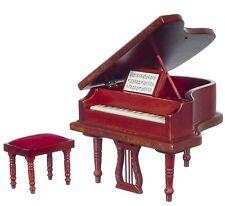 Maison De Poupée Salle De Musique Miniature Meuble Acajou Bébé