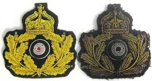WW1 German Navy Cap Badge Kaisermarine  Imperial Officer Wreath WWI U-Boat WWI