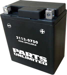 Parts Unlimited AGM Factory Activated Maintenance-Free Battery 2113-0750