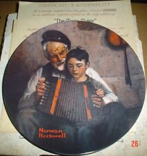 Knowles American Fine China THE MUSIC MAKER By Norman Rockwell