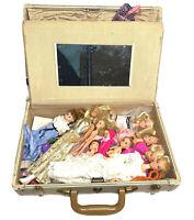 Bundle of Vintage Barbies 30+ Clothes & Accessories With Vintage Samsonite Box.