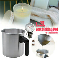 1.2L Wax Melting Pot Pouring Pitcher Jug Aluminium Candle Soap Make Thermometer