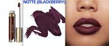 STILA COSMETICS STAY ALL DAY LIQUID LIPSTICK, NOTTE (BLACKBERRY) -- 2 PC. NEW