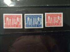 SWEDEN  #600-602 COMPLETE SET MLH 1961