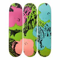 Warhol Flowers x Skateroom, Skateboard Deck