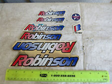 ROBINSON DECALS BMX BICYCLE RACING RARE VINTAGE STICKERS NOS