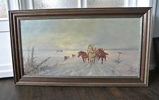 Russische Kunst R. Popov Öl auf Leinwand gerahmt großes Format