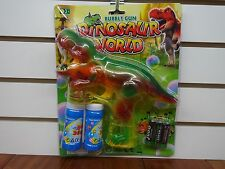 "Dinosaur Bubble Gun (9"" x 8"")With LIGHTS and MUSIC!!"