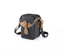 Billingham 72 Compact Camera Pouch Black Canvas Tan Leather