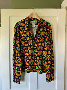 Dolce&Gabbana Men's Retro Floral Shirt - Slim Fit Rayon/Spandex - Excellent Cond