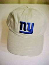 """NY GIANTS Buckle BACK CAP new/old w/o tags--BEIGE WITH """"NY"""" **NFL Apparel**"""