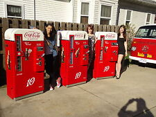 Two Professionally Restored Vendo 81 A D  Coca Cola Coke Machines vmc 44 39 56