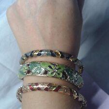 Lotto bracciali rigidi smalto cloisonne enamel bangle bracelet  bijoux lot
