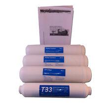 Juego Filtros en linea Osmosis Inversa + Manual mante/desinfección