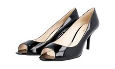 cd6c352b8 Authentic Luxury PRADA PUMPS 1K290D Black Patent US 7.5 EU 37 5 38