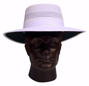 REO Headwear Hat Mens Sports White Summer Cricket Hat Camelia Turn Up Brim S - L