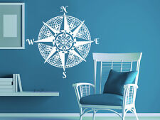 Compass Rose Mandala Wall Decal Nautical Vinyl Sticker Bedroom Home Decor NV168