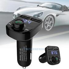 Bluetooth Dual USB MP3 Player Car Charger FM Transmitter for iPhone 7 Plus Sony