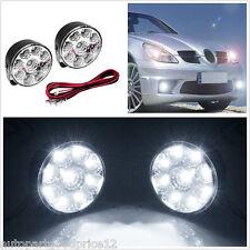 2Pcs 9 LED Car Driving Daytime Running Light Round Flood Beam Fog Work Lamp DRL