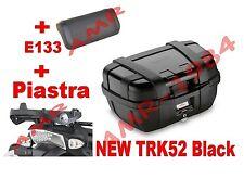 VALIGIA BAULE TRK52B BLACK + PIASTRA E333 YAMAHA XT 660 Z TENERE' 08-14 + E133S