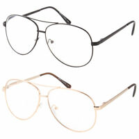 Men Retro Reading Glasses Cool Metal Aviator Style Large Frame Oversized Readers