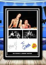 More details for (194) sid vicious & johnny rotten  signed unframed/framed photograph (reprint)@@