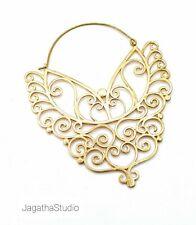Gold Large Oversize Hoop Earrings Statement XXL Earrings Tribal Bohemian Boho