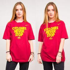 NIKE RED SLOGAN T-SHIRT IOWA STATE CYCLONES VINTAGE WOMENS SPORTS USA 16 18