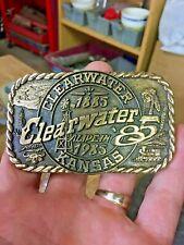 Clearwater Kansas Centenial Belt Buckle