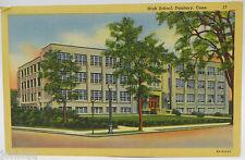 Vintage 1949 Postcard - High School, Danbury, CT - Postmarked