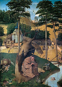 Hieronymus Bosch, The Temptation of St Anthony, Art Poster, Museum Canvas Print