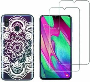 Samsung Galaxy A40 - Pack 2 films en verre trempé protection écran + coque