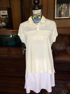 Nike Dri-fit Women's Golf Top Size Large White Sheer