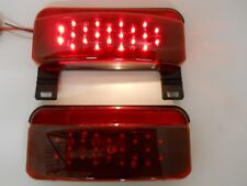 LED RV Camper Trailer Stop Turn Brake Tail Lights / License Light / Black Base