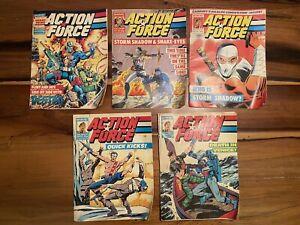 Action Force Comics #46 Snake Eyes #12 Storm Shadow Marvel UK #50 Destro 1987-88