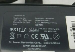 Genuine Respironics IPX1 AC Adapter Power Supply 12V With Power Cord